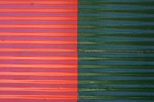 détail de la façade colorée