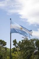 drapeau argentine à buenos aires photo