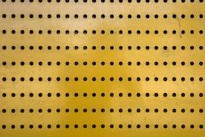 texture en métal jaune photo