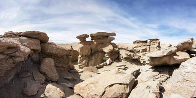 Formations rocheuses du désert de Dali en bolivie photo