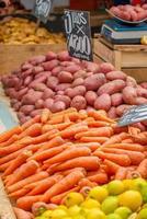 légumes sur un marché
