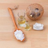 huile de coco naturelle photo