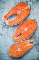 trois filets de saumon photo