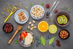 petit-déjeuner frais et sain