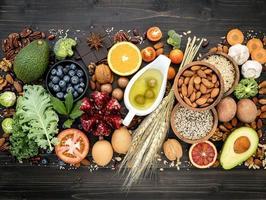 aliments diététiques sains