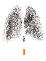 concept de poumons du fumeur