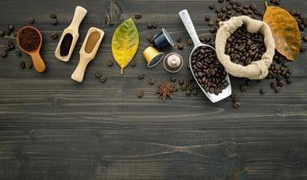 grains de café frais photo