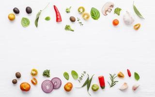 bordure d'ingrédients de cuisine photo