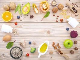 cadre d'aliments frais photo