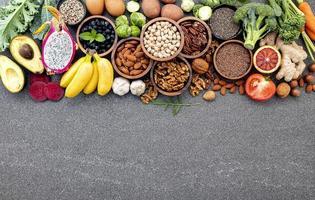 nourriture fraîche avec espace copie photo