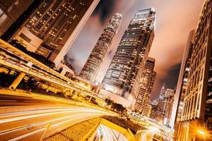 Les immeubles de grande hauteur dans la ville de hong kong, Chine photo