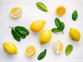 vue de dessus des citrons photo