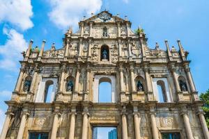 st. Paul Church dans la ville de macao photo