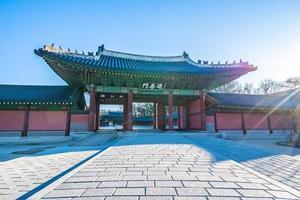 Palais Changdeokgung dans la ville de Séoul, Corée du Sud