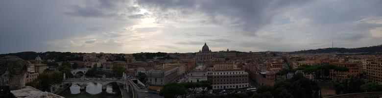 vue panoramique de rome, italie photo