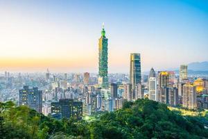Paysage urbain de taipei, taiwan photo