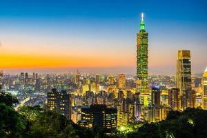 Tour Taipei 101 et vue sur Taipei, Taiwan photo