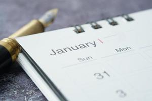 mois calendaire de janvier photo