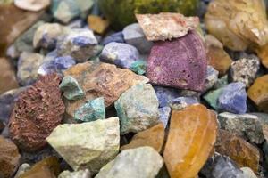 pierres précieuses brutes photo
