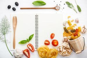 concept de repas italien photo