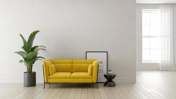 Intérieur d'un salon moderne dans un rendu 3d photo