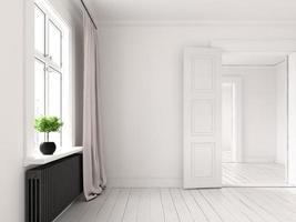 salle vide intérieure en rendu 3d photo