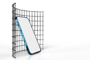 smartphone mobile, maquette de téléphone portable pour application mobile, rendu 3d photo