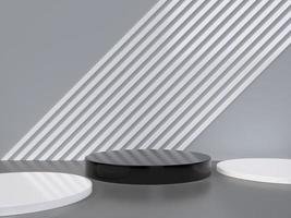 rendu 3d minimaliste de formes géométriques abstraites photo