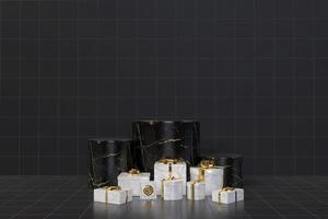 coffrets cadeaux rendu 3d concept photo