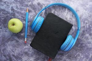 concept de livre audio photo