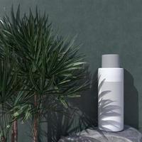 cosmétique, beauté des soins de la peau, maquette de conception d'emballage photo