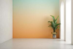 illustration 3d de la salle intérieure conceptuelle photo