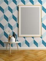 design d & # 39; intérieur d & # 39; une chambre moderne en illustration 3d