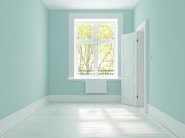 Intérieur d'une pièce vide en rendu 3d photo