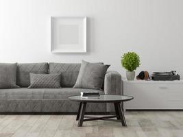 partie d'une conception de salle intérieure moderne en rendu 3d photo