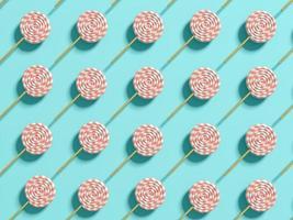 Abstrait de sucettes pastel punchy en illustration 3d photo