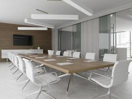 intérieur d & # 39; une salle de réception et de réunion en illustration 3d photo