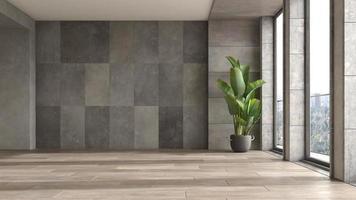 salle intérieure moderne vide en illustration 3d photo
