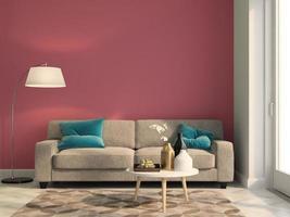 intérieur d & # 39; une salle de design moderne en illustration 3d photo
