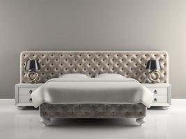 Intérieur d'une chambre de luxe au design moderne en rendu 3d photo