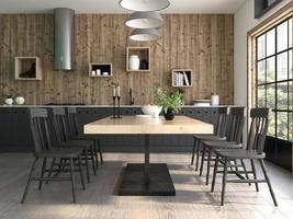 design d'intérieur de style moderne d'une maison en rendu 3d photo