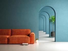 Salle intérieure conceptuelle en illustration 3d photo