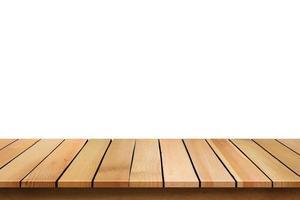 table en bois sur blanc photo