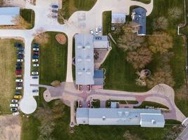 usa 2020- vue aérienne d'un complexe agricole moderne