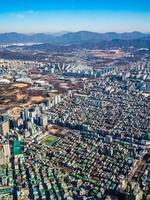 Vue aérienne de la ville de Séoul, Corée du Sud photo