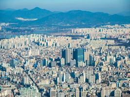 Vue aérienne de la ville de Séoul, Corée du Sud