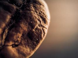 Macro de grain de café torréfié photo
