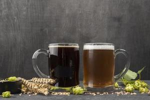 chopes de bière photo