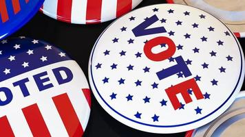 boutons de vote gros plan photo