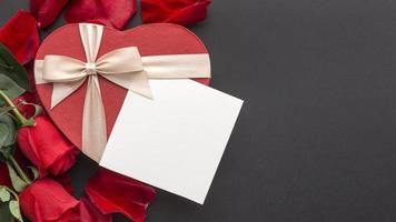 maquette de note de la saint-valentin photo